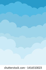 colorful cartoons beautiful clouds illustration