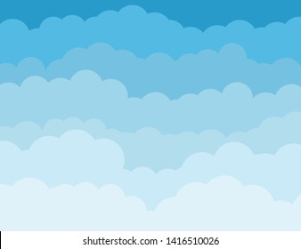 colorful cartoons beautiful clouds illustration