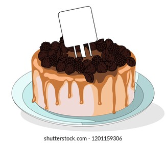 Colorful chokolate sweet cakes illustration