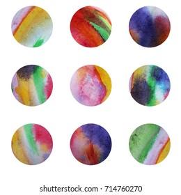 Colorful circles. Web design. Circles isolated on white background. Logo design. Art geometric pattern. Web design elements. Summer design
