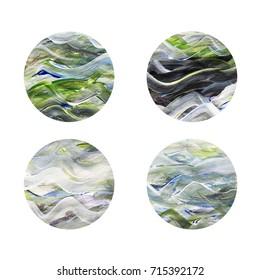 Colorful circles. Web design. Circles isolated on white background. Logo design. Art geometric pattern. Web design. Gray circles