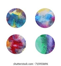 Colorful circles. Web design. Circles isolated on white background. Logo design. Art geometric pattern. Web design. Colorful watercolor circles. Summer ocean design