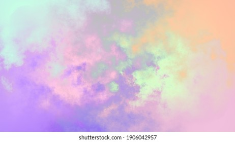 Colorful Cloudy Neon Background Absract