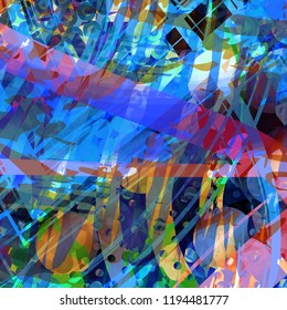 colorful composition art of pastel sweet candy graphic design expression  painting with element and shape drawing print on multi color canvas paper texture background beautiful illustration artwork