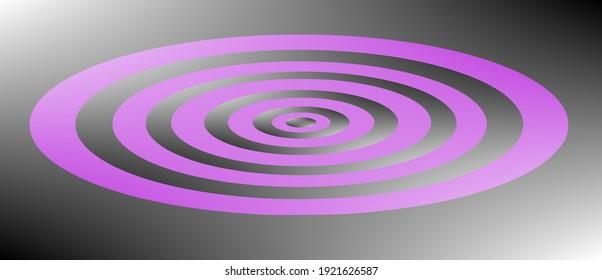 Colorful concentric circlular patterns design