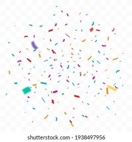 Fêtes de Confetti colorées, création isolée sur fond transparent