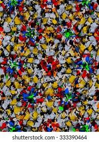 Colorful confetti paint