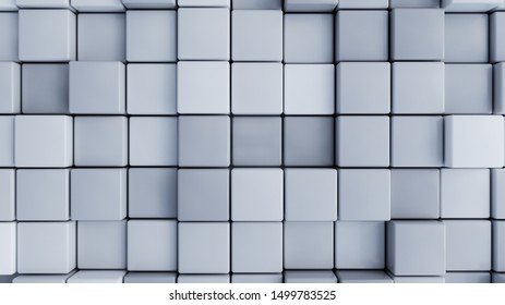 Colorful cubes as abstract background -- 3D Rendering