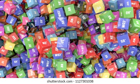 Colorful cubes with domain extensions