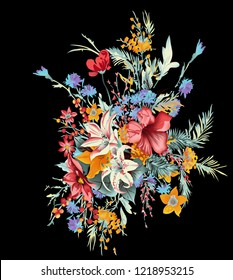 colorful design with flower