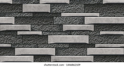 colorful digital seamless elevation(brick) wall tiles design