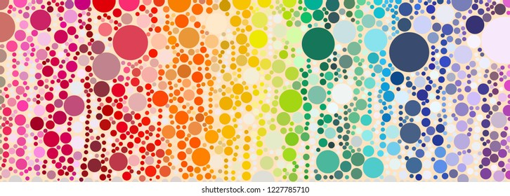 colorful dot pattern in swirl motion and various size look like fizzy bubble background