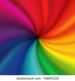 Colorful fabric texture. the rainbow twists into a spiral. Illustration