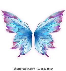 colorful fairy wings and angel wings