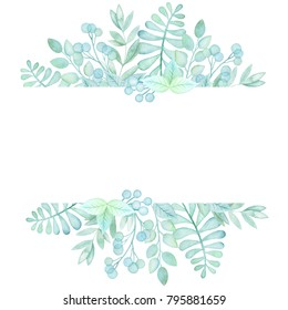 Colorful Floral Frame With Leaves And Branches Perfect For Weddingframequotes