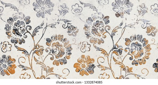 colorful flower seamless wall decoration background abstrct design.