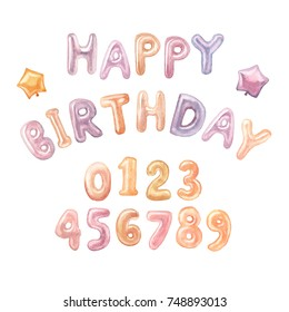 Colorful Foil Balloonsletters Numbers Birthday Party Stock