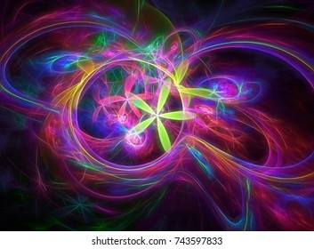 Colorful fractal chaos world