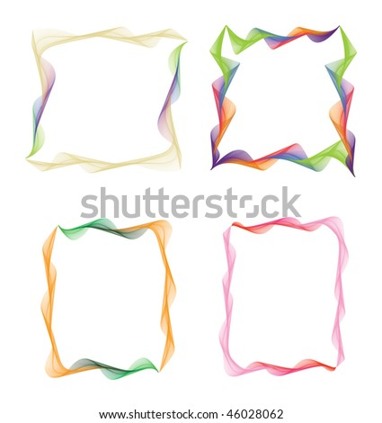 Colorful Frames Ready Your Pictures Photos Stock Illustration ...