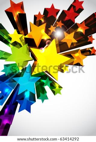 colorful funky stars stock illustration 63414292 shutterstock