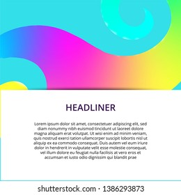 Colorful geometric background. Fluid shapes composition. Abstract banner template.  . - Shutterstock ID 1386293873