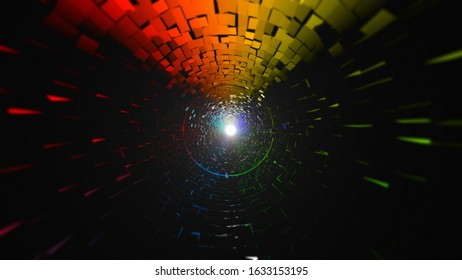 Colorful Geometric Design Particle Polygon Artistic Background Image