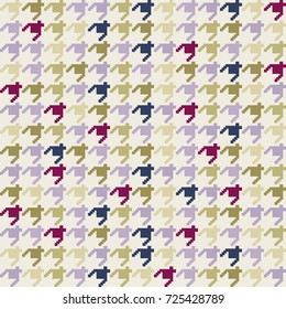 Colorful geometrical hounds tooth pattern./Hounds tooth Pattern