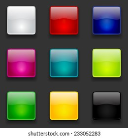 Square Button Images, Stock Photos & Vectors | Shutterstock