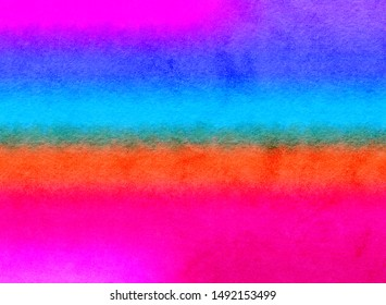 colorful gradient color stripe with watercolor texture illustration background