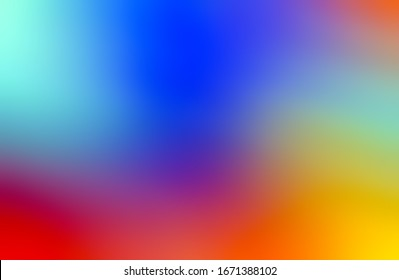 Colorful Gradient Mesh Background. Trendy Overlay Multi Color Combination of soft Colors. Beautiful bright desktop Wallpaper. Digital modern design smooth graphic abstract colorful beautiful art