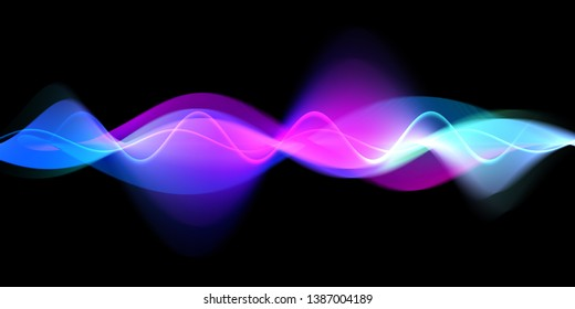 Colorful gradient motion wave abstract background.