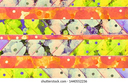 colorful  green ,orange and blue  abstract spring ,summer  wallpaper  design background