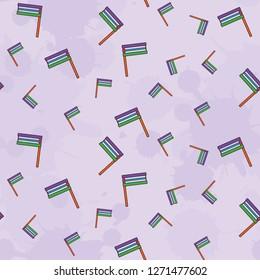 Colorful Groggers seamless pattern on Purple background