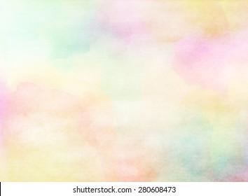 Colorful grunge watercolor texture. Soft background.