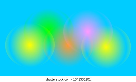 Colorful Halo Effect Background Template for Discounts, Offers, Ads, Web, Social Media, Video, Screens, Print Material, Marketing, Communications - A Ready Made Model in Widescreen Format