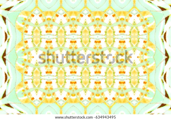 Colorful horizontal ornament for carpets, textile, cards, design and backgrounds