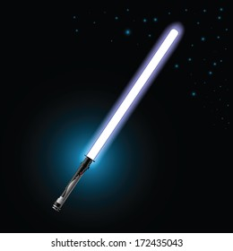 colorful illustration with light saber for your design