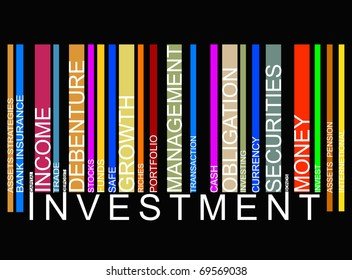 colorful investment  bar code