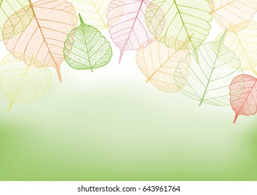 Colorful leaves with copy space