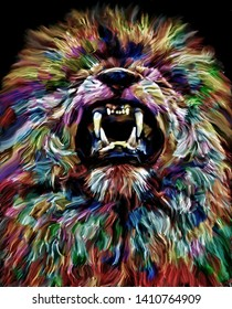 Lion Abstract Painting Images Stock Photos Vectors
