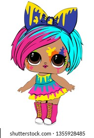 Colorful lol cute girl baby