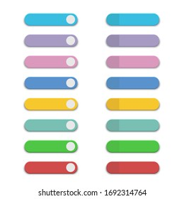 Colorful and many kinds of buttons for applications