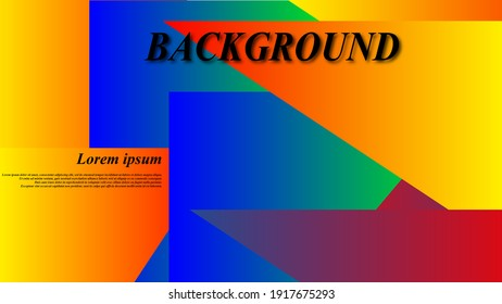 Colorful Modern shape Abstract Banner Template with Dummy Text for Web Design, Landing page, and Print Material.