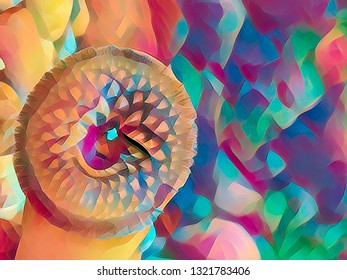 colorful mosaic abstract design