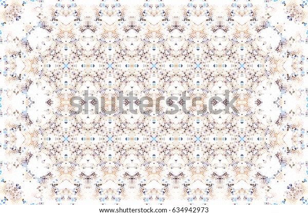 Colorful mosaic pattern for carpets, table cloths, textile and backgrounds
