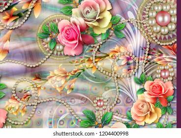 Colorful multi effect textile design scarf,dress,curtain etc... print design