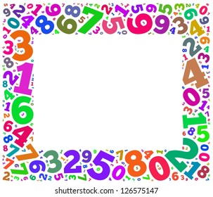 Colorful numbers frame