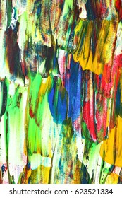Colorful oil paintied texture - abstract background
