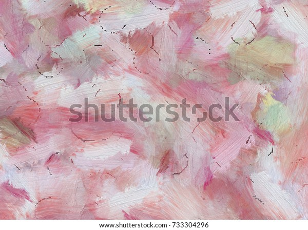 Colorful Oil Painting Texture Brush Strokes Stock Illustration