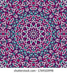 Colorful Ornate Mosaic Mandala Art